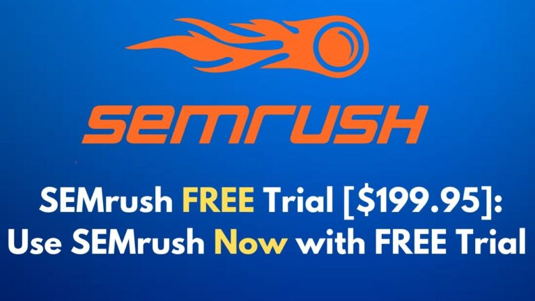 SEMrush FREE Trial [$199.95]: Use SEMrush Now with FREE Trial