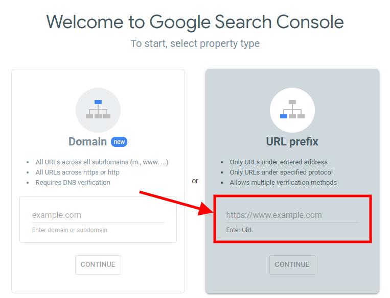 GSC-enter-URL