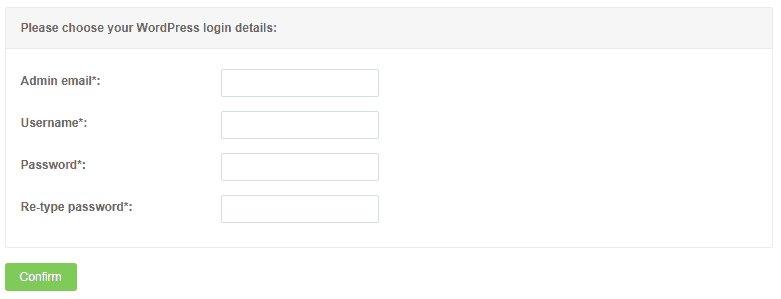 fill WordPress-login