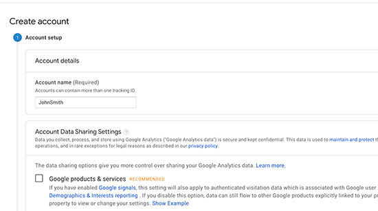 Google Analytics Setup - 2