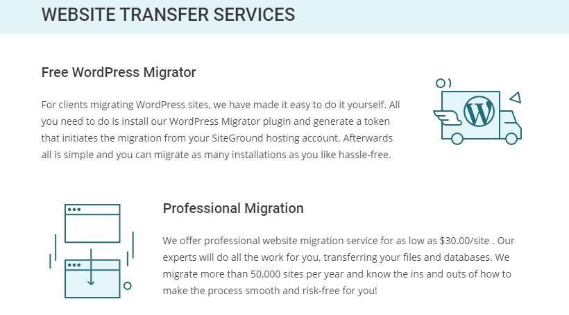 Siteground Free Site Migration
