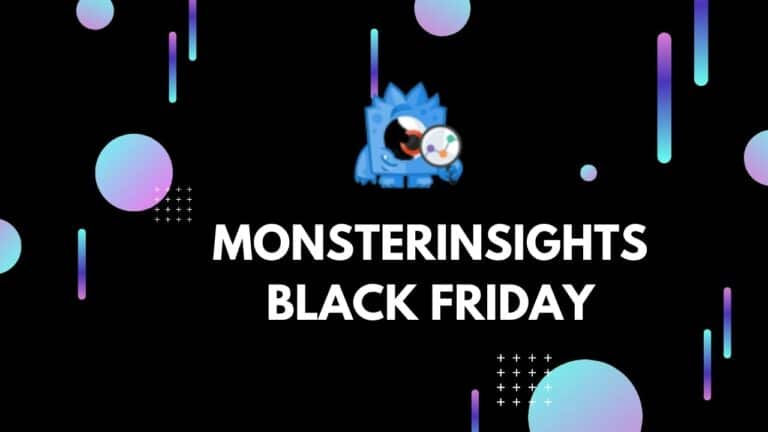 Monsterinsights black friday Deal