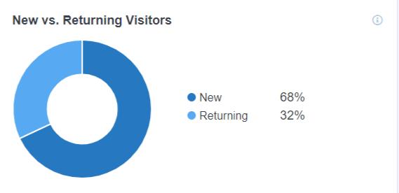 New vs Returning visitors MonsterInsights