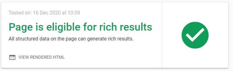 Rich Result Test