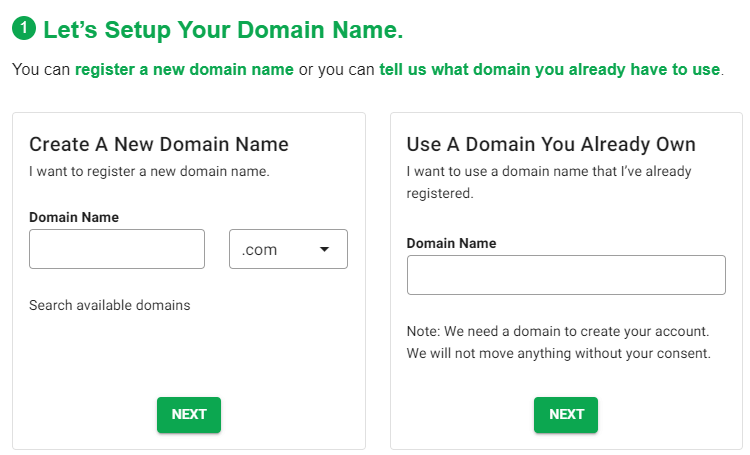 GreenGeeks Domain Registration