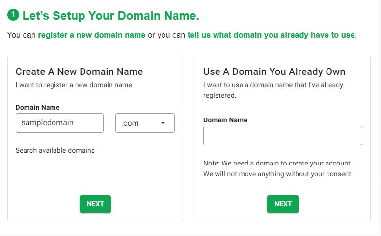 GreenGeeks Black Friday Domain Name registration