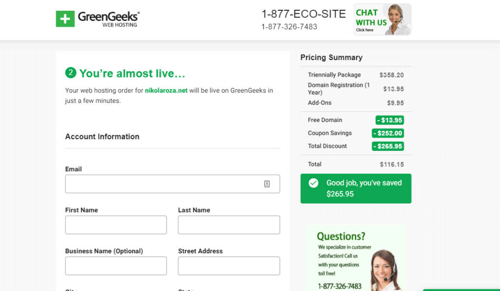 greengeeks-payment